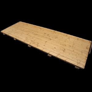 Trægulv, udlagt i forbindelse med leje af telt