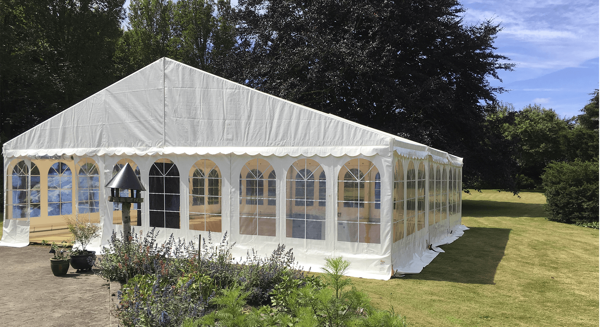 9x9 hvidt telt galleri