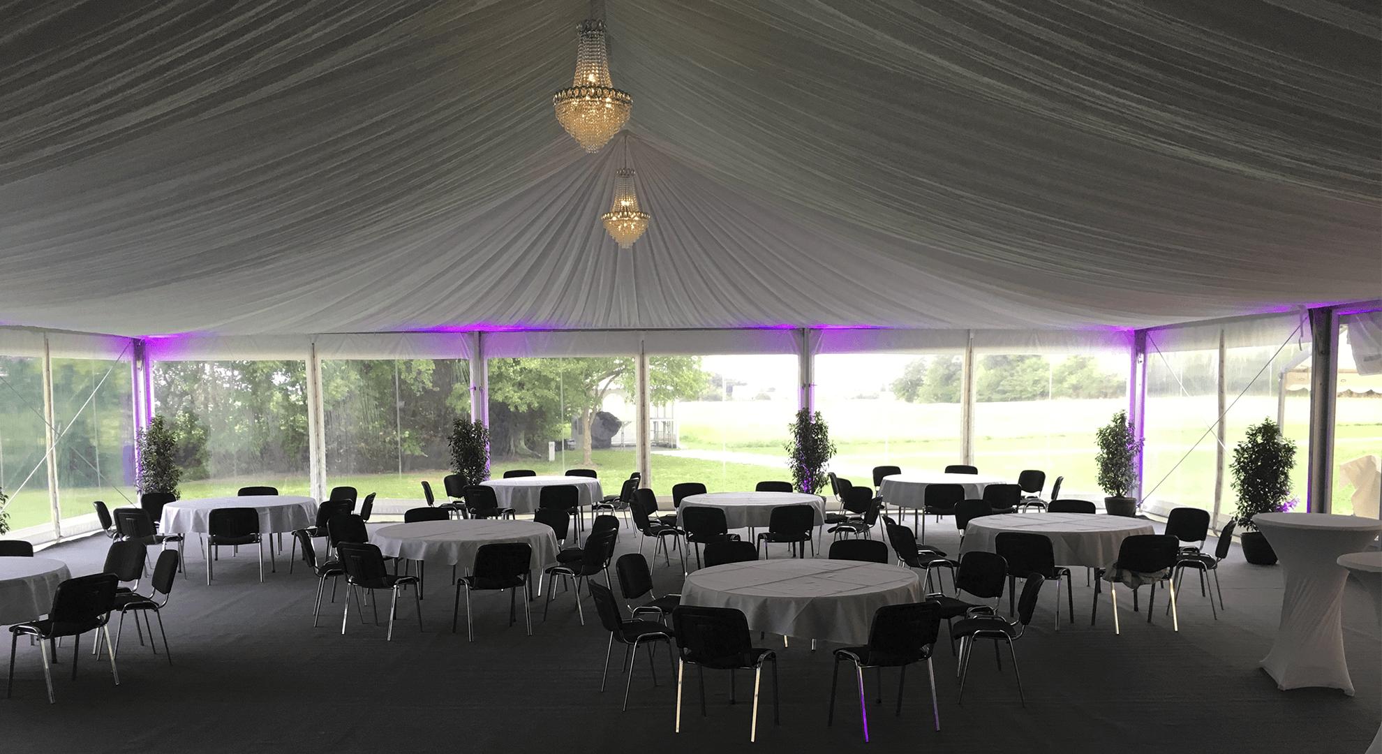 stort telt med innerline stof i ta 15 m bryllupstelt galleri